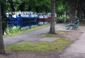 Man at canal